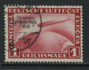 Germany 1933 Zeppelin 1 mark used