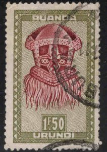 Ruanda-Urundi Scott 100 Used thinned stamp