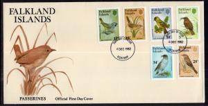 Falkland Islands 354-359 Birds U/A FDC