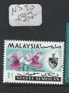 MALAYA NEGRI SEMBILAN  (P0502B)  ORCHID   1C   SG 90   MOG
