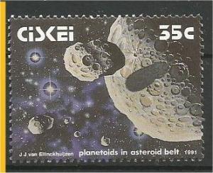 CISKEI, 1991, MNH 35c Solar System, Asteroid belt, Scott 176