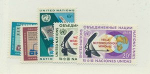United Nations (NY) Stamps Scott #185 To 189 From 1968