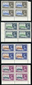 British Honduras SG143/6 1935 Silver Jubilee Set in Blocks of Four