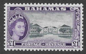 Doyle's_Stamps: 1954 XF++ Bahamas Queen Elizabeth II 1-Pound Scott  #173*