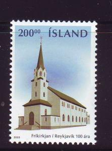 Iceland Sc 989 2003 Free Church stamp mint NH