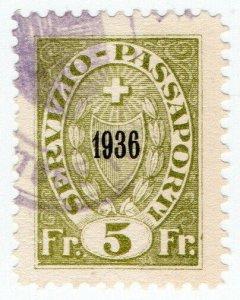 (I.B) Switzerland Revenue : Passport Service 5Fr