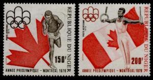 Niger C257-8 MNH Olympic Sports, Shot Put, Gymnastics, Flags
