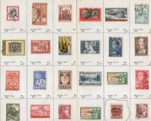 GREECE Used/Mint hinged on dealer pages (24 Stamps) -x36
