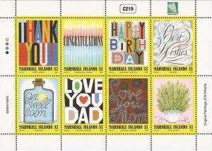 Marshall Islands - 2004 Greetings - 8 Stamp Sheet - Scott #829