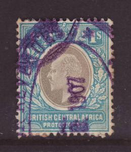 1903 Br Central Africa 1/- Used SG62b