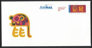Christmas Is. Chinese New Year 'Year of the Rat' Pre-paid Envelope