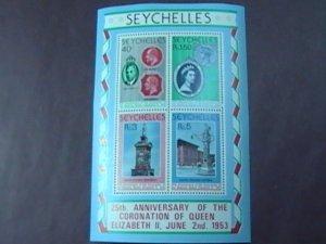 SEYCHELLES # 416a-MINT NEVER/HINGED----SOUVENIR SHEET----1978