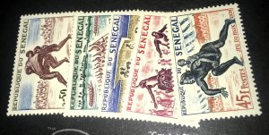 Senegal 202-206 MNH 1961 issue sports