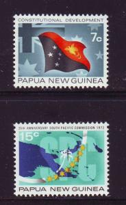 Papua New Guinea Sc342-3 S Pacific Commission stamps mint NH