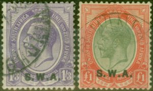 South West Africa 1927 set of 2 SG56-57 V.F.U