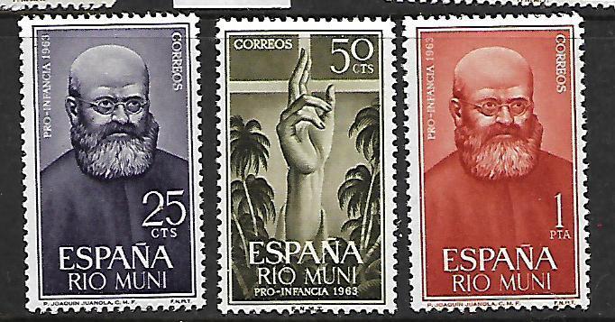 RIO MUNI 24-26 MNH C/SET 1963 ISSUE