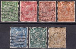 Great Britain #159-63, 165, 172   F-VF Used CV $18.70 (A18803)