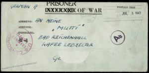 USA Camp Trinidad Colorado WWII Germany POW Kriegsgefangenen Kgf 81602