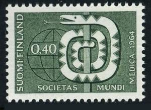 Finland 426,MNH.Michel 593. World Medical Association,1964.Staff of Aesculapius.