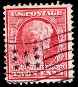 US Stamp #367 Two Cent Carmine Lincoln USED SCV $1.75