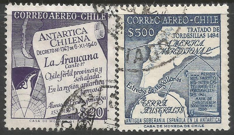 CHILE 310-11 VFU MAP Z1145