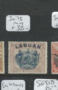 LABUAN  (P0108B)  CREST LION 24C   SG 73  MOG