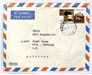 CONGO Zaire Cover *Mbandaka* MISSIONARY Air Mail MIVA c1969 CM59