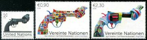 HERRICKSTAMP NEW ISSUES UNITED NATIONS Non - Violence - Knotted Guns