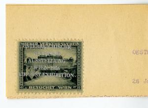 Austria 1956 Vienna Airpost Exhibition Poster Stamp Cinderella Label