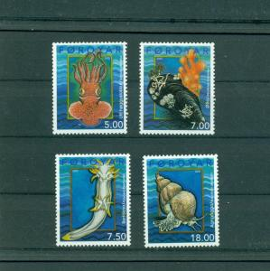 Faroe Is. - Sc# 409-12. 2002 Marine Life Mollosks. NH $12.65