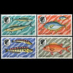 ASCENSION 1970 - Scott# 130-3 Fish Set of 4 LH