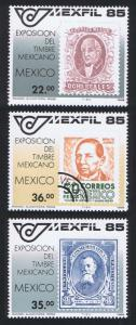 Mexico Stamp Exhibition 'Mexico 85' 3v 1985 MNH SG#1739-1741 SC#1382-1384