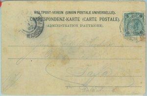 86443 - AUSTRIAN Levant - Postal History - POSTCARD from LEBANON to JAFFA 1902