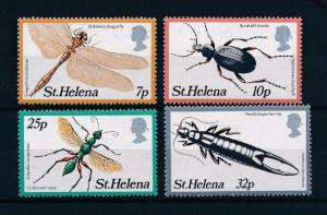 St Helena 364-367, MNH, Insects  Beetles 1982. x28374