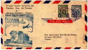 PAA Clipper 1st Flight Panama to Corpus Christi, Texas