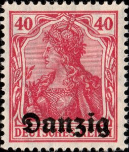 DANZIG - 1920 - Mi.6 40pf light red-carmine - Mint (Hinged)*