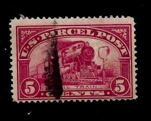 US 1913  Sc# Q 5  PARCEL POST  Used - Light Cancel - Vivid Color