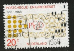 Netherlands Scott 451 used 1968 stamp
