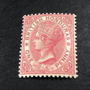 BRITISH HONDURA # 14--MINT NEVER/HINGED-----SINGLE---ROSE---1884