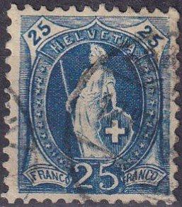 Switzerland #94 F-VF Used  CV $6.25 (S10442)