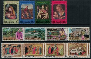 St. Lucia #341-8,51-4* NH  CV $3.40