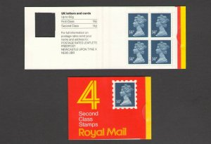 GB: Sc. BK295 /** 56 PENNY-QE II DECIMAL ** / Folded Window Booklet /MNH