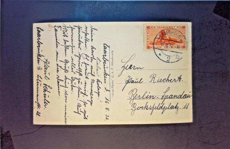 SAAR 1932 Post Card Used to Germany - Z1285