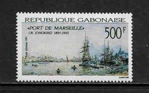 Gabon #C292 MNH Stamp - Port of Marseilles Painting
