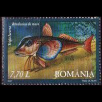 ROMANIA 2007 - Scott# 4919 Fish 7.7l NH