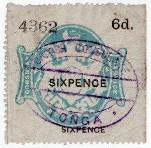 (I.B) QV Revenue : Consular Service 6d (Tonga)