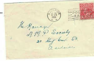 APH1477) Australia 1931 2d Red KGV Die I Small Cover