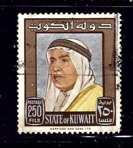 Kuwait 242 Used 1964 Sheik Abdullah    (ap1034)
