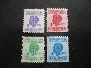 Stamps - Cuba - Scott# RA22-RA25 - Mint Hinged Set of 4 Stamps