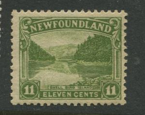 Newfoundland -Scott 140 -Pictorial Definitive Issue -1923 -MLH -Single 11c Stamp